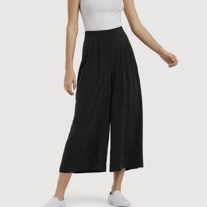 Kit and Ace Chatham Culottes Silk Black Pants Sz 2
